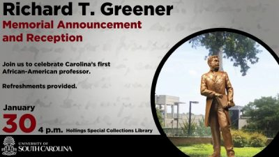 Richard T. Greener Memorial Announcement and Reception